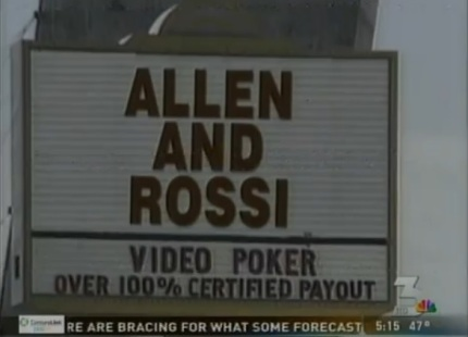 allen and rossi strip sign